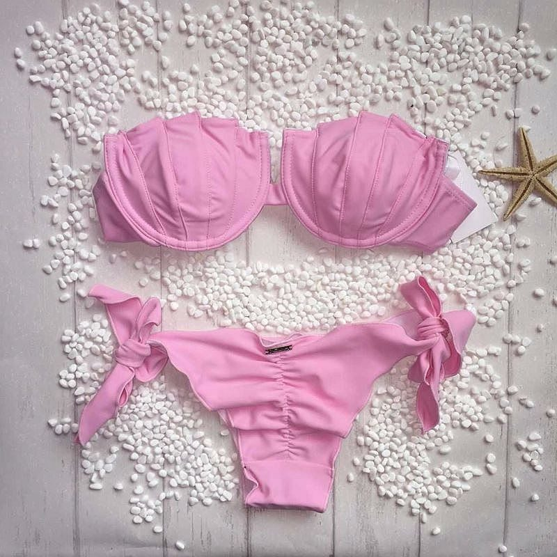 Buy the Brazilian Bikini Pink Faded Set at the Bumbum Store
