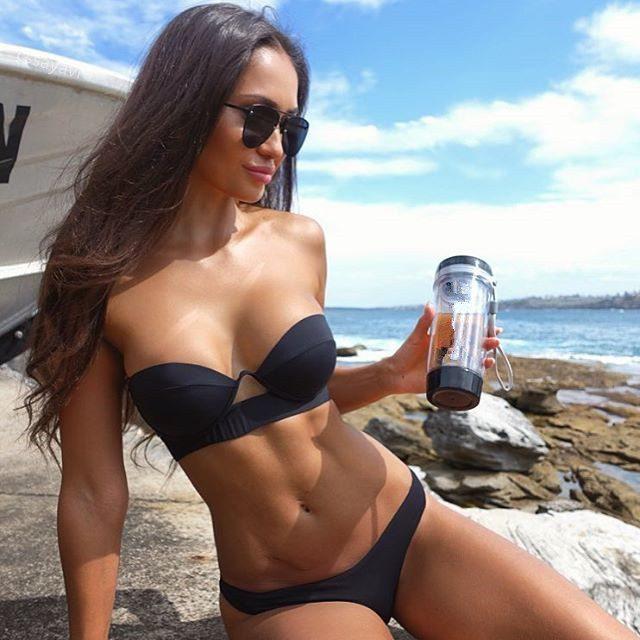 9e23c85c137457 Buy this Brazilian Bikini Black Strapless Top modelled on a beach at the  BumBum store